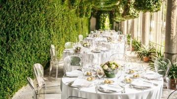 Hochzeitstische Laubengang