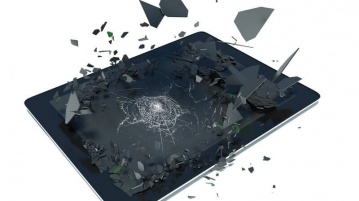 Reparatur Tablet liegend